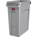 Abfallbehälter Slim Jim®, Kunststoff, Fassungsvermögen 60 Liter, grau