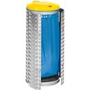 Abfallsammler Kompakt, Edelstahl/Alu-Duett Blech, gelb