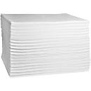 Absorptiedoekjes voor olie First, absorptie van 108 l, niet geperforeerd, L 500 x B 400 mm, wit, 100 stuks