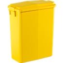 Afvalbak 60 l + deksel geel