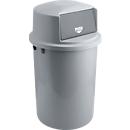 Afvalbak met deksel en push-klep, 126 liter