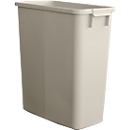Afvalbak zonder deksel, 60 liter, grijs