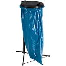 Afvalstandaard voor afvalzak van 120 liter, met zwarte deksel + 50 afvalzakken gratis