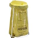 Afvalstandaard voor afvalzak van 70 liter, verzinkte stalen constructie, met geel deksel