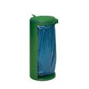 Afvalverzamelaar met opening achterzijde, groen, gewicht 8,75 kg