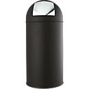Afvalverzamelaar met zelfsluitende klep, 40 liter, Ø360 X H 770 mm, zwart