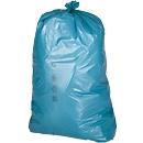 Afvalzakken Premium, materiaal LDPE, blauw, 120 liter, 250 stuks