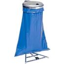 Afvalzakstandaard voor afvalzakken van 120 liter, met deksel en voetpedaal, gegalvaniseerd