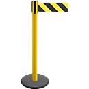 Afzetpaal met trekband GLA 29, geel, band zwart/geel