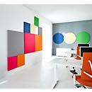 Akoestisch wandpaneel vierkant, B 1000 x H 1000 mm, polyestervlies in viltlook, licht ivoorkleurig RAL 1015