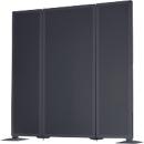 Akustik-Stellwand Akustika, B 400 x H 1800mm, graphit
