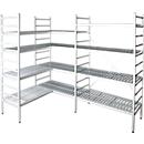 Aluminium-Steckregal, Grundfeld, mit 4 Kunststoff-Rost-Fachböden, H 1950 x B 1000 x T 400 mm