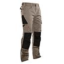 Ambachtelijke broek met tailleband Jobman 2321 PRACTICAL, met kniezakken, kaki I zwart, maat 42