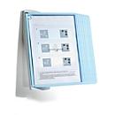 Antibakterielles Sichttafelsystem Durable Sherpa® Bact-O-Clean Wall, Wandhalter mit 10 Tafeln, A4, PP, weiß