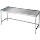 Arbeitstisch aus Edelstahl, unterfahrbar, 850 x 700 x 1000 mm