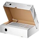 Archiefdozen Leitz® Easyboxx 80, A4, automatische opbouw, deksel, grijpgat beschrijfbaar etiket,  B 80 mm, wit, 25 stuks