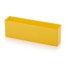 Assortimentsdoos inzetbak, voor rasterafmeting 1 x 4, rechthoekig, geel