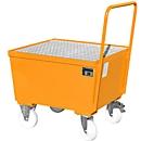 Auffangwanne Typ AW-F1, fahrbar, orange RAL2000