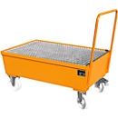 Auffangwanne Typ AW-F2, fahrbar, orange RAL2000