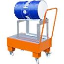 Auffangwanne, Typ AW60-1 SRF, fahrbar, orange RAL2000