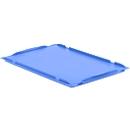 Auflagedeckel D64 für Kasten im EURO-Maß LTB/ELB, 600 x 400 mm, blau