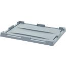 Auflagedeckel f. Big Box, L 1200 x B 800 mm, PP/HDPE, silbergrau