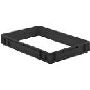 Aufsatzrahmen EFR 6070 für Kasten im EURO-Maß, ESD-leitfähig, 600 x 400 x 75 mm