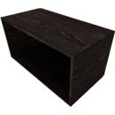Aufsatzregal SOLUS PLAY, f. Container m. Auszug SOLUS PLAY, Höhe 368 mm, Mooreiche