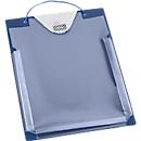Auftragstaschen, Klettverschluss, Aufbewahrungsfach und Dehnfalte, DIN A4, blau