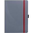 AVERY notitieboek NOTIZIO, ref. 7018, A5-formaat, soft kaft van PP, 80 vel, gelijnd, donkergrijs