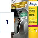 AVERY® Zweckform Folienetiketten, blanko, extrem robust, für alle Drucker, 210 x 297 mm