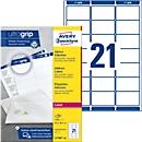Avery Zweckform L7160-100 Adress-Etiketten, ultragrip, 63,5 x 38,1 mm, DP INTERNETMARKE geeignet