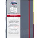AVERY ZWECKFORM Notizbuch Notizio 7014,  PP, 90 Blatt, DIN A5, liniert, grau