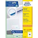 AVERY® Zweckform Universal-Etiketten 3653-200, ultragrip, 105 x 42,3 mm, 2800 Stück