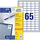 AVERY Zweckform Universal Etiketten 3666, ultragrip, A4, matt, 6500 Etiketten
