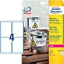Avery Zweckform weerbestendige folie-etiketten L4774-20, A4, 80 etiketten, wit