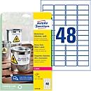 Avery Zweckform weerbestendige folie-etiketten L4778-20, A4, 960 etiketten, wit
