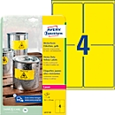 Avery Zweckform weerbestendige folie-etiketten L6127-20, 99,1 x 139 mm, permanent, geel