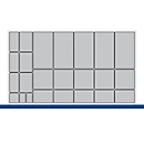 Bakken voor klein materiaal, voor Verso-kasten/schuifladen B 1050 mm, 24-delig