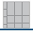 Bakken voor klein materiaal, voor Verso-kasten/schuifladen B 650 mm, 13-delig
