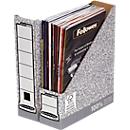 Bankers Box® tijdschriftencassette, collectie met grijze kleur, voor A4 formaat, rug van 78 mm, 10 stuks
