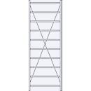 Basis stelling R 3000, 10 legborden, B 1055 mm x D 300 mm, gegalvaniseerde legborden