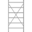 Basis stelling R 3000, 6 legborden, B 1055 mm x D 300 mm, legborden gelakt