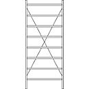 Basis stelling R 3000, 8 legborden, B 1055 mm x D 300 mm, gegalvaniseerde legborden