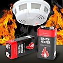 Batterien, für Rauchmelder, E-Block, 9 V, 2 Stück