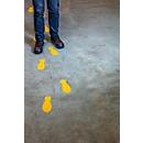 Belijning/Markering Durable, zelfklevend in voetvorm, voor vloeren, 5 paar