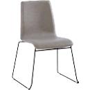 Bezoekersstoel ZEROS´SE, zwart/grijs