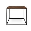 Bijzettafel Rusty, vierkant, kubusvormig onderstel, B 500 x D 500 x H 450 mm, roesteffect/zwart
