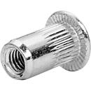 Blindnietmuttern Rapid, Stahl verzinkt, mit Bohrer, für Klemmlängen 0,5 - 1,5 mm & Schrauben ø 3 mm, 20 Stück