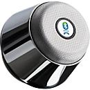 Bluetooth Lautsprecher Chrome, mit integriertem FM-Radio, Freisprechfunktion